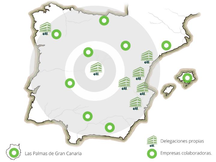 Mapa delegaciones CTL Sanidad Ambiental