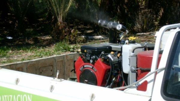 aerosol sobre vehículo aplicador CTL