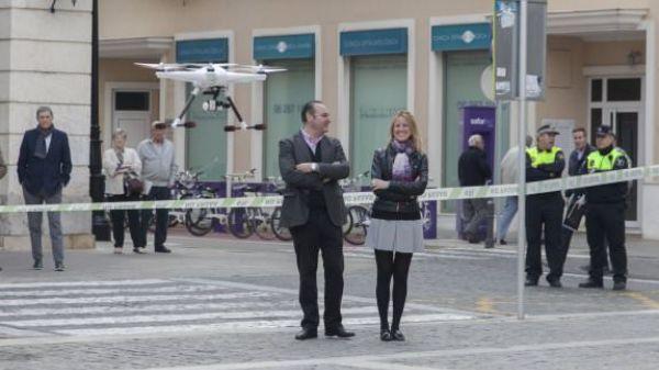 CTL demostración vuelo dron en Gandia
