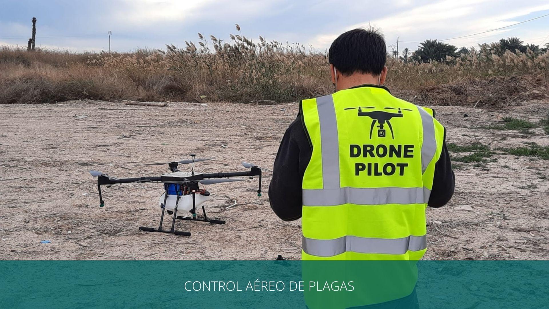 control aéreo con drones