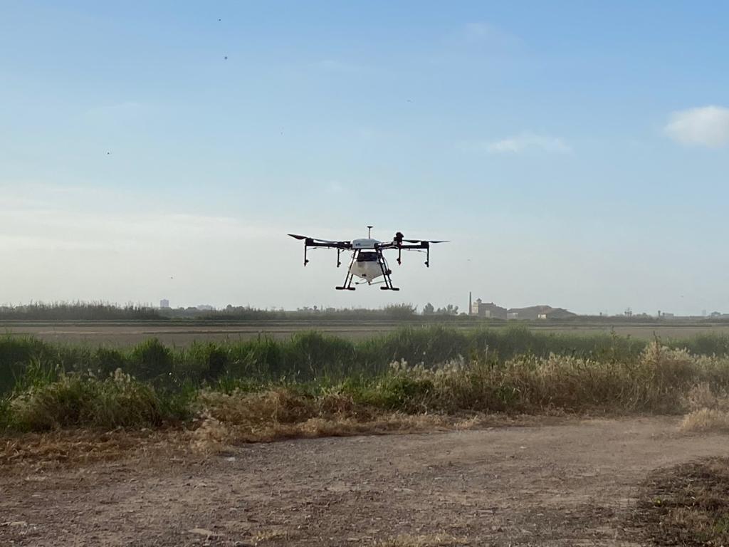 dron fumigacion plagas